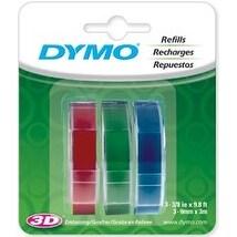 "Red; Green And Blue - Caption Maker Tape Refill 3/8""X9.8 Feet 3/Pkg"