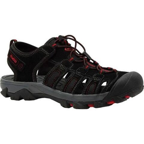 Nevados Men's Newton Sandal Black/Grey/Red Leather/Mesh