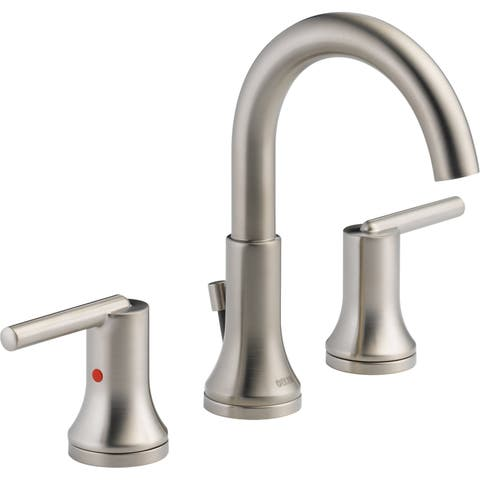 Delta 3559-MPU Trinsic Widespread Bathroom Faucet with Metal Drain Assembly -