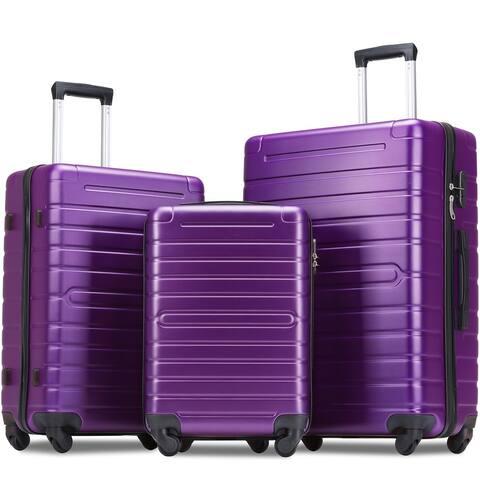 Merax 3 Piece Hardshell Luggage Set Spinner Suitcase with TSA Lock