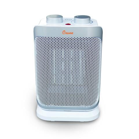 Crane Oscillating Mini Tower Space Heater, 1,500 Watt Ceramic Heater