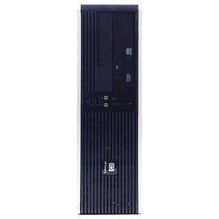HP RP5700 Desktop Computer SFF Intel Core 2 Duo E6400 2.13G 2GB DDR2 80G Windows 10 Home 1 Year Warranty (Refurbished) - Black