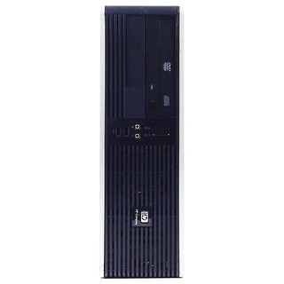 HP RP5700 Desktop Computer SFF Intel Core 2 Duo E6400 2.13G 2GB DDR2 80G Windows 7 Pro 1 Year Warranty (Refurbished) - Black