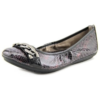 Naturalizer Uri Women N/S Round Toe Leather Brown Ballet Flats