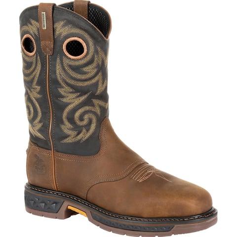 Georgia Boot Carbo-Tec LT Steel Toe Waterproof Pull On Work Boot, #GB00267