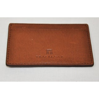 Trafalgar Mens Murray Hill 3120TFA2 Brown Pass-Case Card Case Wallet