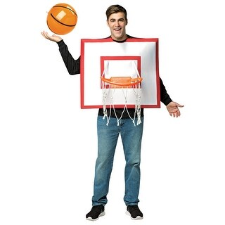 Adult Basketball Hoop Funny Halloween Costume - standard - one size