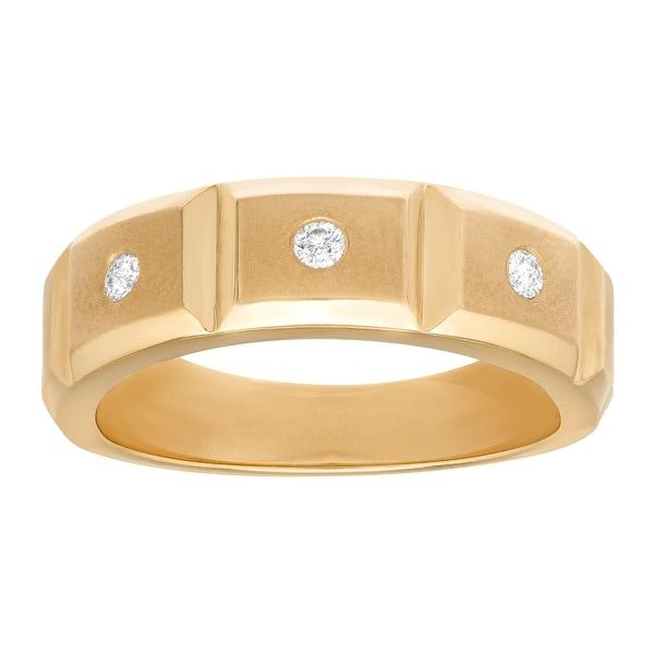 Men's 1/8 ct Diamond Ring in 14K Yellow Gold