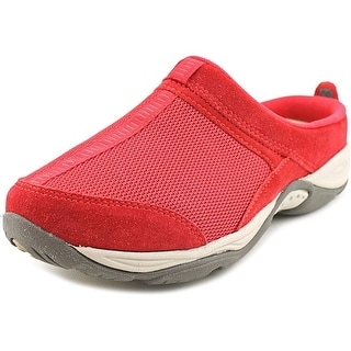 Easy Spirit Ezcool Women W Round Toe Suede Red Clogs