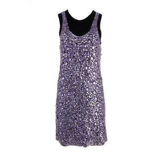 Vera Wang Womens Modal Rhinestone Party Dress