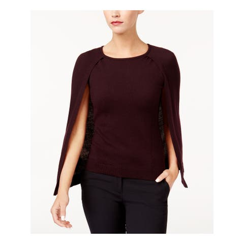 KOBI Womens Purple Sleeveless Scoop Neck Sweater Size S
