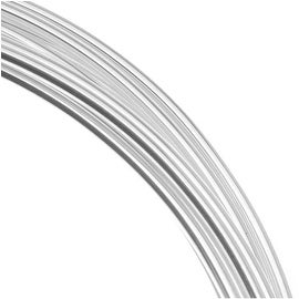 Beadsmith Silver Plated Copper German Bead Wire Craft Wire 20 Gauge/.8mm (6 Meters / 19.6 Feet)