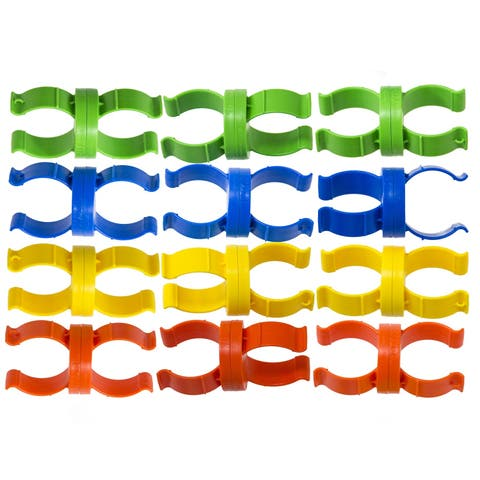 "Set of 12 Vibrantly Colored Noodle Lynx Swimming Pool Noodle Connecting Toy - 4.75"" - N/A"