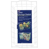 Panacea Products White Storage Basket 40604 Unit: EACH