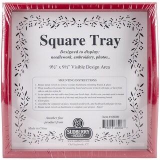 """Red Small Square Tray 10""""X10""""-Design Area 9.5""""X9.5"""""""