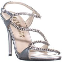 E! Live From The Red Carpet Wallis Dress Sandals, Silver - 8 us