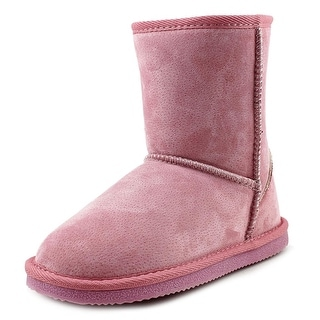 Lamo Kids Classic Boot Youth Round Toe Suede Pink Winter Boot
