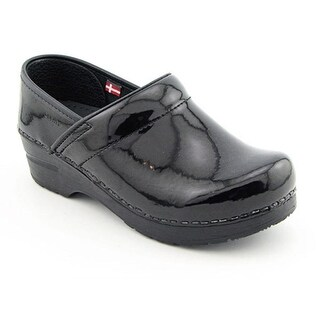 Sanita Professional Patent Women Round Toe Patent Leather Nursing & Medical Shoe