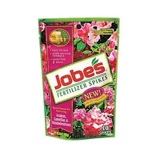 Jobes 04101 Azalea, Camellias & Rhododenron Fertilizer Spikes, 10 Spikes