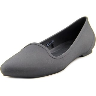 Crocs Eve Flat Women Pointed Toe Synthetic Black Flats