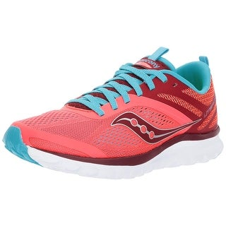 Saucony Womens Liteform Miles Fabric Low Top Lace Up Running Sneaker