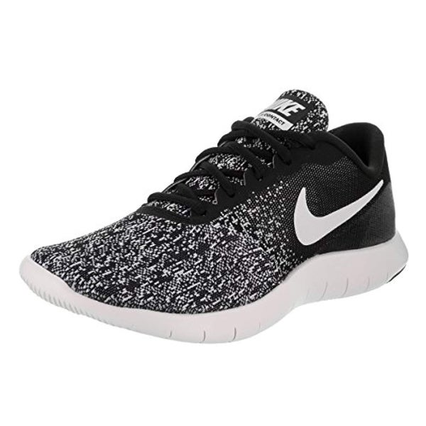 f8c0cdc608fa Shop Nike New Womens Flex Contact Running Shoe Black White 9.5 - Free  Shipping Today - Overstock - 25660716