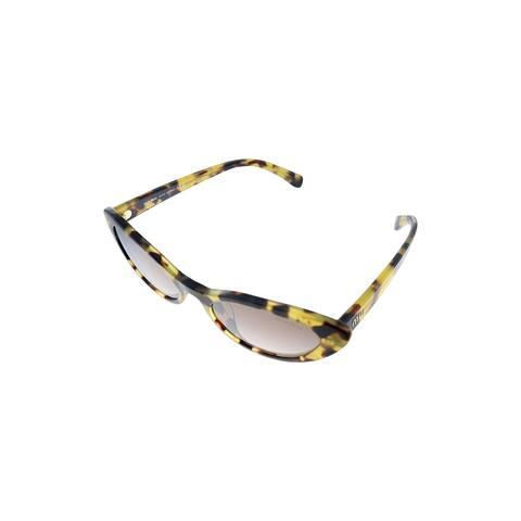 Miu Miu MU 09USA 7S0QZ9 53mm Womens Tortoise Frame Brown Gradient Lens Sunglasses