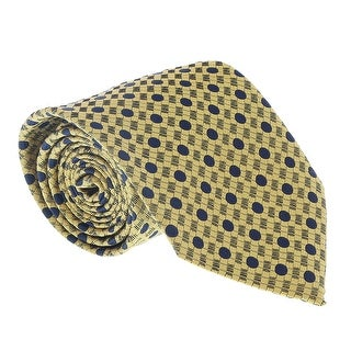 Ermenegildo Zegna Yellow-Black Dotted Lattice Tie - 60-3