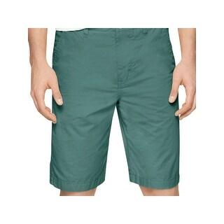 Calvin Klein Jeans Mens Bermuda, Walking Shorts Solid Flat Front