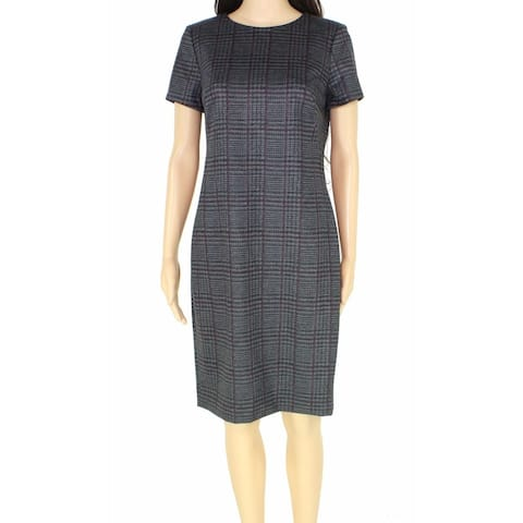 Lauren by Ralph Lauren Women's Dress Gray Size 4 Sheath Houndsooth