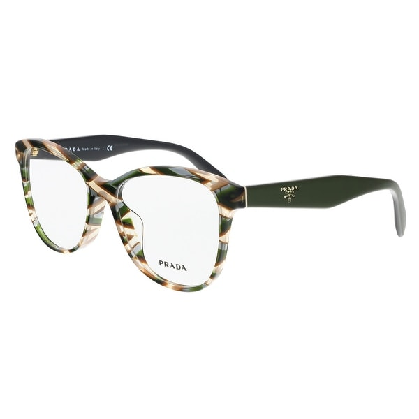 927ea00c458 Shop Prada PR 12TVF VAO1O1 Sheaves Grey Square Optical Frames - 55 ...