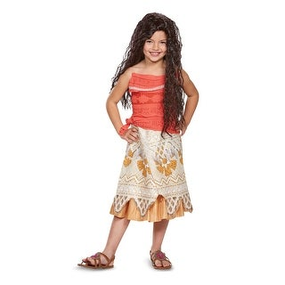 Girls Classic Moana Hawaiian Disney Costume