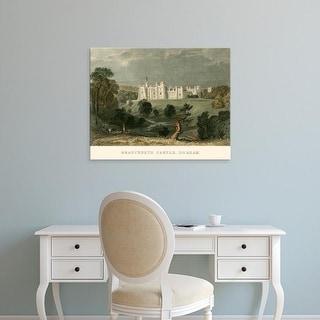 Easy Art Prints T. Allom's 'Brancepeth Castle, Durham' Premium Canvas Art