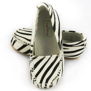 Foxpaws Zebra Ava Leather Toddler Girl Loafers Shoe 6-10