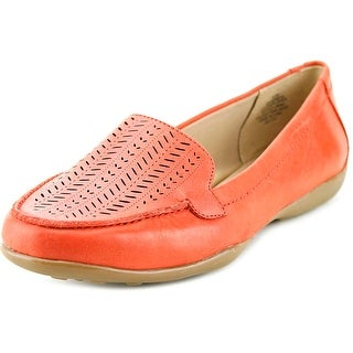 Easy Spirit e360 Jasmera Women Round Toe Leather Red Loafer