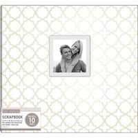 "White Pearl Quatrefoil - K&Company Patterned Post Bound Window Album 12""X12"""