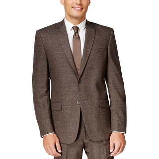 Marc New York Slim Fit Brown Donegal 2-Button Sportcoat Blazer 40 Short 40S