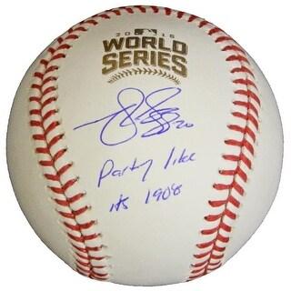 Matt Szczur Signed Rawlings Official 2016 World Series Baseball