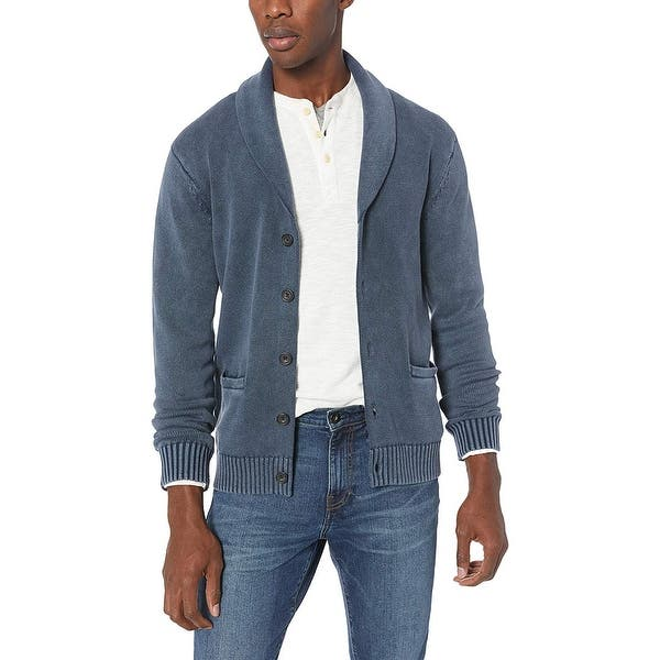 Felpa Uomo Soft Cotton Shawl Pullover Sweater Goodthreads