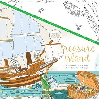 "KaiserColour Perfect Bound Coloring Book 9.75""X9.75""-Treasure Island"