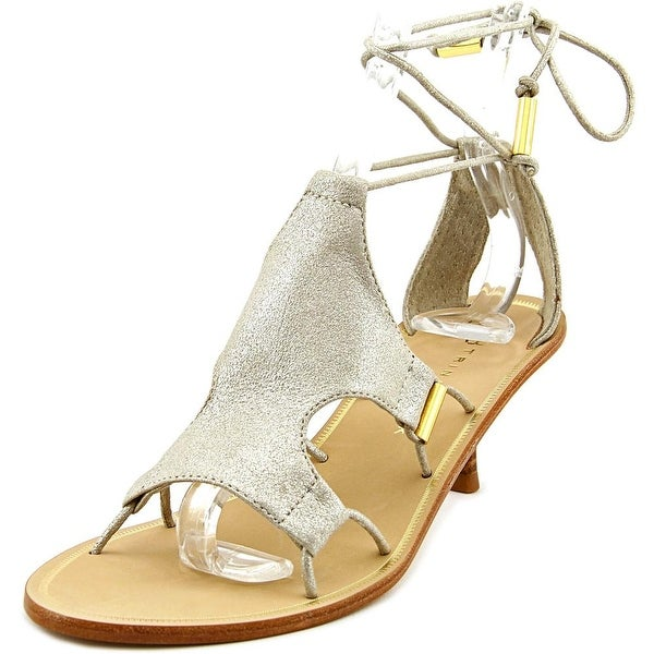 Trina Turk Evelyn Women Open Toe Leather Gray Sandals