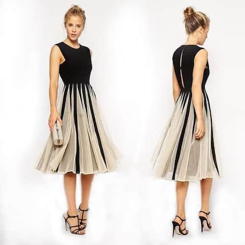 Women's Mesh Stitching Dress