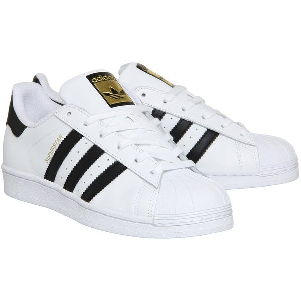 hot sale online 50022 a67af Adidas Superstar Rubber Shell Toe Shoes - White Black White