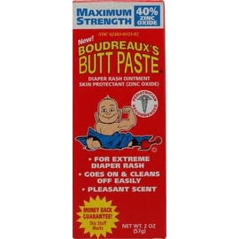 Boudreaux's Maximum Strength Butt Paste diaper rash ointment 2 oz