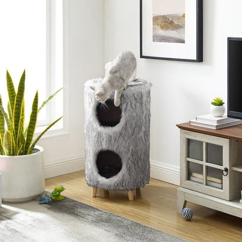 "Pufak 27"" Gray Cat Tree Cylinder"