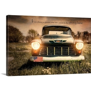 """Wrong Lane"" Canvas Wall Art"