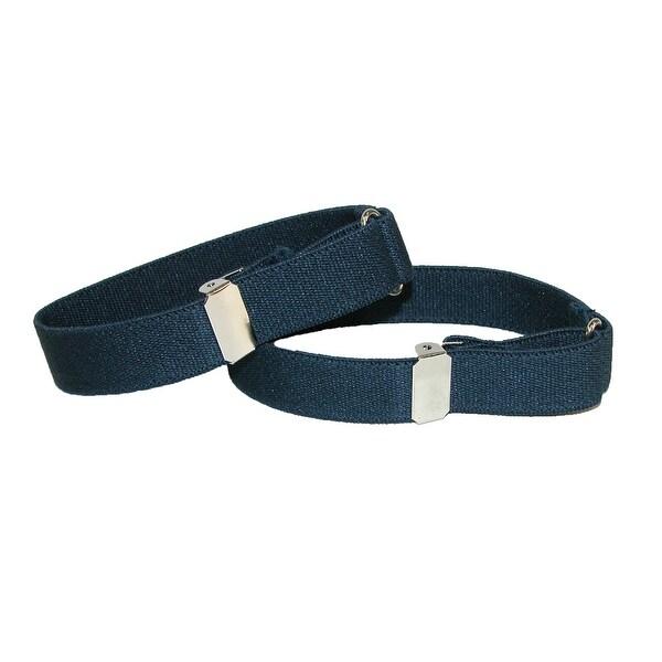 CTM® Elastic .75 Inch Wide Solid Color Adjustable Sleeve Garter