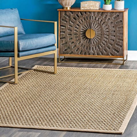 The Curated Nomad Vidua Seagrass Fiber Checkered Area Rug