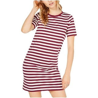 Link to MICHAEL Michael Kors Women T-Shirt Dress Purple Size XS Striped Crewneck Similar Items in Dresses