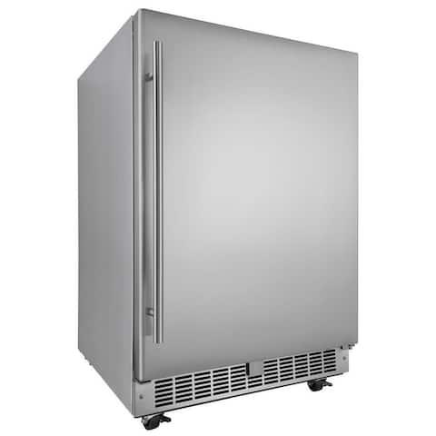 "Danby DAR055D1O 24"" Wide 5.5 Cu. Ft. Energy Star Free Standing Compact - Fingerprint Resistant Stainless Steel"